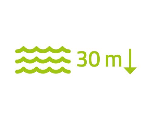 Vodotěsnost až do 30 m