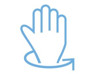 Aktivácia displeja pohybom zápästia