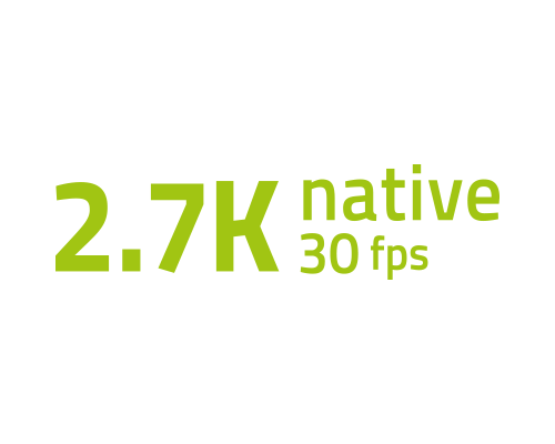 Nativní 2,7K video