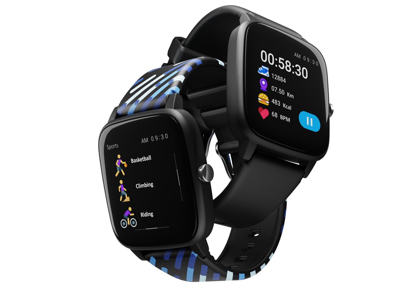 LAMAX BCool Black - Fitness and fun on your wrist