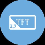 """2,7"""" TFT wyświetlacz"""