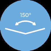 Szeroki kąt widzenia 150°