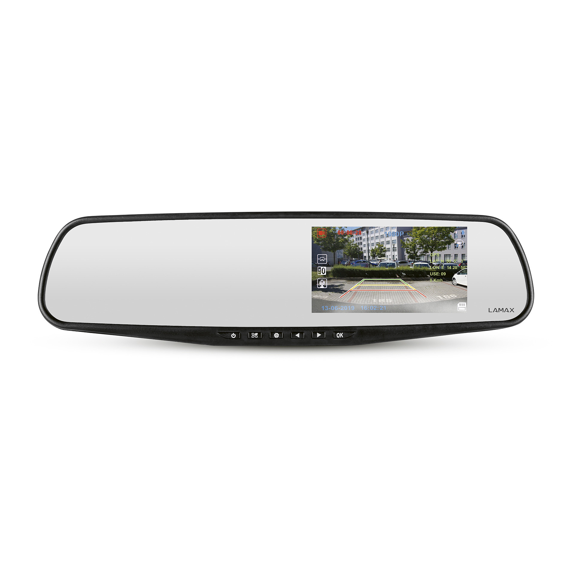 Camera Directly on the Rearview Mirror