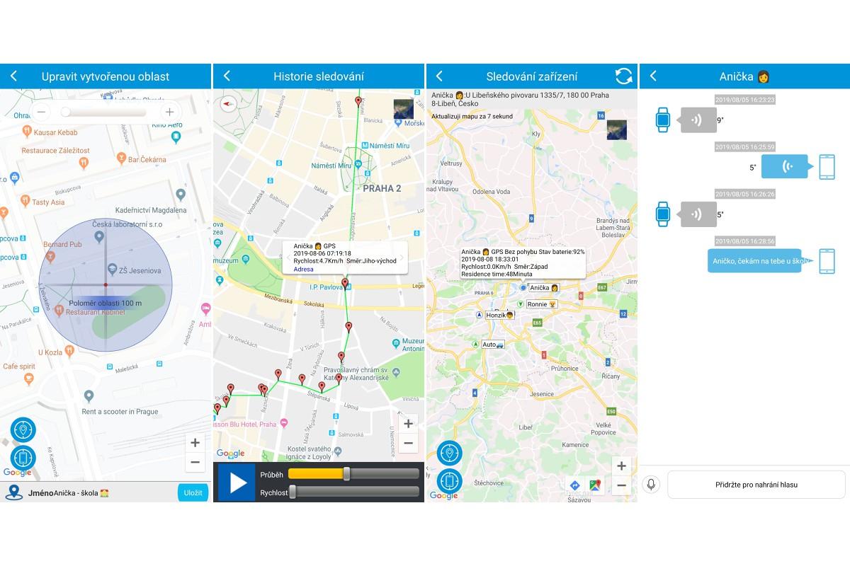 WatchY2 a LAMAX Tracking App i <strong>v češtině</strong>